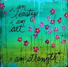 """""""i am strength"""" original (20x20"""") by Donna Downey"""