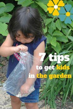 Top 7 Tips to get kids in the garden