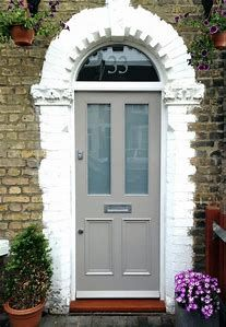 Front Door Paint Colors - Want a quick makeover? Paint your front door a different color. Here a pretty front door color ideas to improve your home's curb appeal and add more style! Cottage Front Doors, Victorian Front Doors, Front Door Paint Colors, Painted Front Doors, Small Front Gardens, Garage Lighting, External Doors, Victorian Cottage, The Doors
