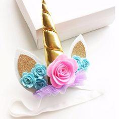 £4.85 GBP - Kids Unicorn Headband Unicorn Hair Clip Unicorn Horn Birthday Girl Hairband #ebay #Fashion