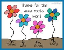 "An idea for mother's day card. Or take this pic and use it in one of those ""color your own"" cups/mugs. Use the cup as a planting pot....add some soil/small plant/flower ....."