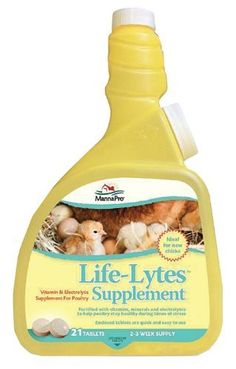 Help support optimal health in your baby chicks by providing Life-Lytes™ vitamin and electrolyte supplement in their drinking water. Comes in ready-to-use tablets to mix in fresh water using the provided mixing bottle. Life-Lytes is the ideal addition to your chick care regimen. Fortified with vitamins and electrolytes to provide important nutrients during times of stress. Tablets dissolve quickly and are easy to use. 21 tablets provide a 1-3 week supply