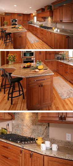 The Dura Supreme Cabinetry Photo Gallery is full of a wide photo collection of cabinet styles and design ideas for your kitchen, bathroom, family room. Small Cabin Bathroom, Cabin Bathrooms, Hickory Cabinets, Kitchen Island, Kitchen Cabinets, Anchorage Alaska, Cabinet Styles, Kitchen And Bath, Supreme