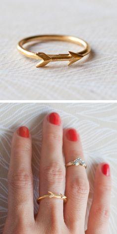 Tiny arrow ring @tiklari