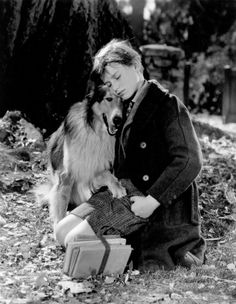 """""""Lassie Come Home"""". 1943.  Roddy McDowall and Lassie."""