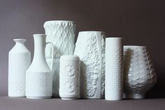 Vintage White Porcelain German Vases by super ninon, via Flickr