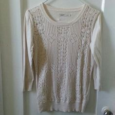 I just discovered this while shopping on Poshmark: Off White Crochet Sweater. Check it out!  Size: S