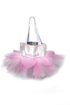 Small Pink Flower Tutu Bags Ballet shoe bag by TututoteBoutique, $25.50