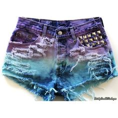 High Waisted Shorts Midnight Blues Shorts Tie Dye All Sizes ($19) ❤ liked on Polyvore featuring shorts, bottoms, pants, short, grey, women's clothing, short jean shorts, short shorts, high-waisted jean shorts and high waisted short shorts
