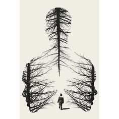 'The Walk' Graphic Art Print - Art Drawings Pencil Art Drawings, Art Drawings Sketches, Easy Drawings, Cool Sketches, Drawings Of Trees, Unique Drawings, Beautiful Sketches, Fantasy Drawings, Cool Art Drawings