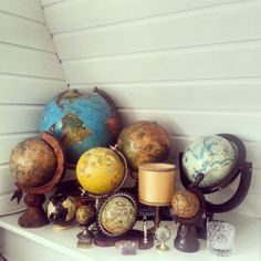 Globes collection (by Valerie Christien)