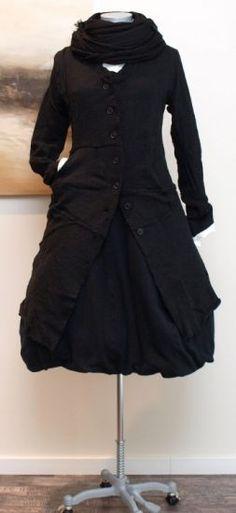 rundholz - Strickmantel gekochte Wolle black - Winter 2013
