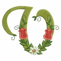 Rose Alphabet V embroidery design Flower Alphabet, Monogram Alphabet, All Design, Free Design, Letter V, Magazine Design, Floral Embroidery, Machine Embroidery Designs, Graphic Art
