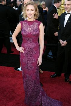 50 Amazing Oscar Looks We're Still Obsessed With #refinery29  http://www.refinery29.com/2015/02/82170/best-oscar-red-carpet-photos#slide-24  Scarlett Johansson, 2011  You can thank Dolce & Gabbana for this magenta lace number. So divine.