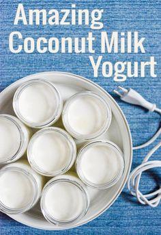 Coconut Milk Yogurt. Dairy-free and irresistibly tasty! | from chocolateandzucchini.com