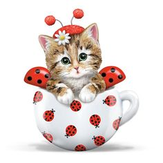 Kittens Ladybug Figurine: The Hamilton Collection Online $29.99  Beso.com