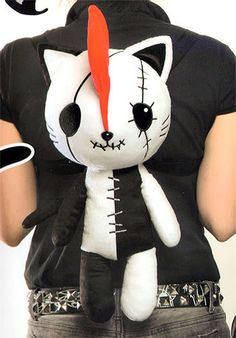 Cute HANGRY & ANGRY Plush Doll Backpack HANGRY official gothic lolita Large NEW