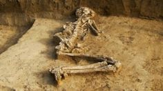 Bulgarian archaeologists have uncovered the remains of a woman that appears to have been buried pregnant 6000 years ago.   The 6000-year-old skeleton of the woman was buried while pregnant [Credit: BGNES]
