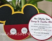 Mickey Mouse Invitation -Mickey Mouse Invites, Mickey Mouse Party, Mickey Mouse Party Invitations, Mickey Mouse