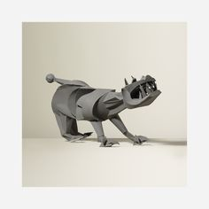 132: Irving Harper / Untitled (Beast) < Irving Harper Paper Sculptures, 21 January 2016 < Auctions | Wright
