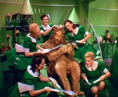 Bert Lahr as the Cowardly Lion, 1939 Wizard Of Oz Quotes, Wizard Of Oz Movie, Wizard Of Oz 1939, Bert Lahr, Victor Fleming, Cowardly Lion, Broadway, Land Of Oz, Yellow Brick Road