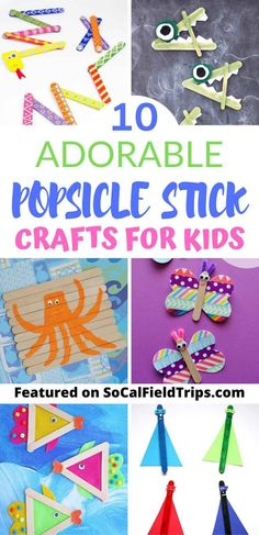 Popsicle sticks are one of the most versatile craft materials in the world! Here are 10 Adorable Popsicle Crafts For Kids! Popsicle sticks are one of Popsicle Stick Crafts For Kids, Easy Crafts For Kids, Popsicle Sticks, Summer Crafts, Craft Stick Crafts, Toddler Crafts, Preschool Crafts, Projects For Kids, Fun Crafts