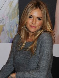 In love with Sienna Miller's long blonde hair