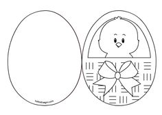 Risultati immagini per desenho cestinha flore Easter Coloring Sheets, Easter Colouring, Colouring Pages, Easter Templates, Easter Printables, Card Templates, Egg Crafts, Easter Crafts, Christian Crafts