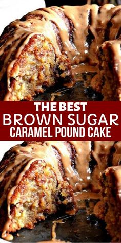 cake recipes Brown Sugar Carmel Pound Cake - Buttery pound cake with a caramel drizzle, sweeeeet! This is the recipe for your favorite person with a sweet tooth. Keto Desserts, Easy Desserts, Delicious Desserts, Dessert Recipes, Carmel Desserts, Dinner Recipes, Magic Cake Recipes, Pound Cake Recipes, Best Pound Cake Recipe Ever