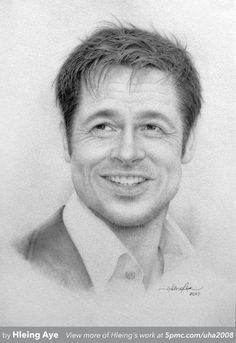 A graphite pencil drawing by Hleing Aye. See more at www.5pmc.com