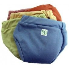 EcoPosh Recycled Organic Training PantsMade out of recycled water bottles, bamboo and organic cotton. Trim fitting and easy for toddlers to pull up! The training pants have 2 layers of absorbent bamboo and organic cotton in the core along with a hidden panel of biodegradable TPU, which is waterproof and allows for accidents without a big upset. The training pants are available in 3 sizes (Small: 1T/2T, Medium: 2T/3T, Large: 3T )