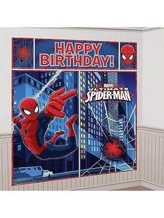 Ultimate Spider-Man Giant Scene Setter Decorating Kit| 5 ct