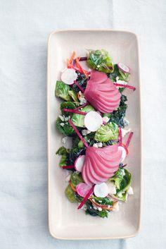 Rosenkohl-Birnen-Salat mit Feta