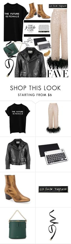 """""""Be the future"""" by lseed87 ❤ liked on Polyvore featuring Prada, Acne Studios, Topshop, RIPNDIP, Cuero&Mør, H&M, Too Faced Cosmetics and MyFaveTshirt"""