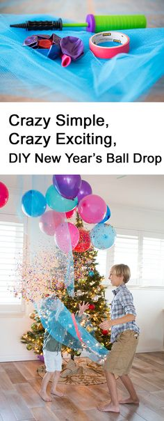 Family New Year's Eve Idea: DIY Balloon Drop - Modern Parents Messy Kids kidsnewyearseve Silvester In Rom, Silvester Diy, Dating Divas, Family New Years Eve, New Year's Eve Activities, Balloon Drop, Handmade Baby Gifts, New Years Decorations, New Year Celebration