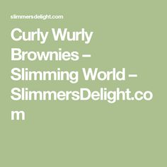 Curly Wurly Brownies – Slimming World – SlimmersDelight.com
