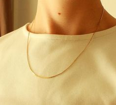 Thin gold chain necklace. Dainty Vintage gold by KLizVintage, $10.00