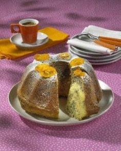 Orangen-Mohn Marmorkuchen