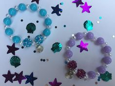 8 Mermaid Themed Party Favor Bracelets