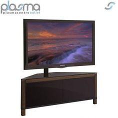 Apus 1100 Walnut Corner Cantilever Tv Stand
