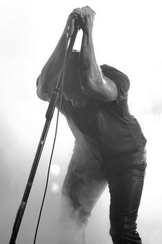 Trent Reznor (Nine Inch Nails). Fav artist ever. His classical is just as poignant as his rock. He is my rock god