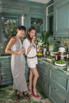 Kelly Wearstler Mixing Drinks with Athena Calderone
