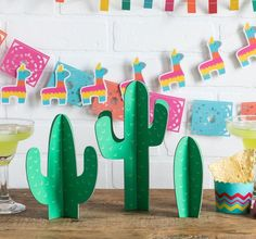 The Fiesta Tabletop Decor feature a stand alone cactus table topper. This decor is perfect a centerpiece on a fiesta themed table or as a nice addition at a bar setting. Cactus come flat but are easy to assemble. Fiesta Party Centerpieces, Cactus Centerpiece, Decoration Cactus, Mexican Party Decorations, Party Fiesta, Taco Party, Centerpiece Decorations, Decoration Table, September