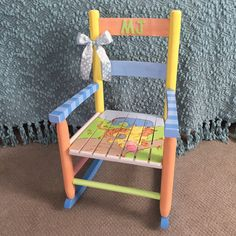 Classic Winnie the Pooh Themed Rocking Chair by ThePurpleGoat