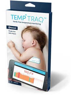TempTraq is the first and only 24-hour intelligent thermometer that continuously senses, records, and sends alerts of a child's temperature to your mobile device.