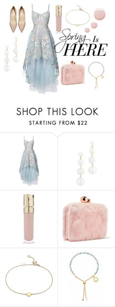 """""""Spring Look 💕"""" by imdrowning ❤ liked on Polyvore featuring Notte by Marchesa, Rebecca Minkoff, Smith & Cult, Sophia Webster, Blue Nile, Keishi Jewellery and Topshop"""