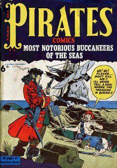 Cover for Pirates Comics (Streamline, 1950 series) #[nn]
