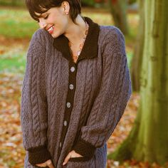Free+Knitting+Pattern+-+Women's+Cardigans:+Affection+Cabled+Aran+Cardigan