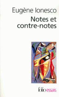 Voici les textes les plus importants de Ionesco sur ses conceptions dramatiques, sa critique des critiques, ses opinions sur le théâtre contemporain, ainsi que ses vues sur l'artiste et l'art en général. http://nantilus.univ-nantes.fr/vufind/Record/PPN002346389