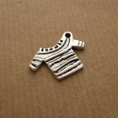 Tibetan Silver Knitted Jumper Charm